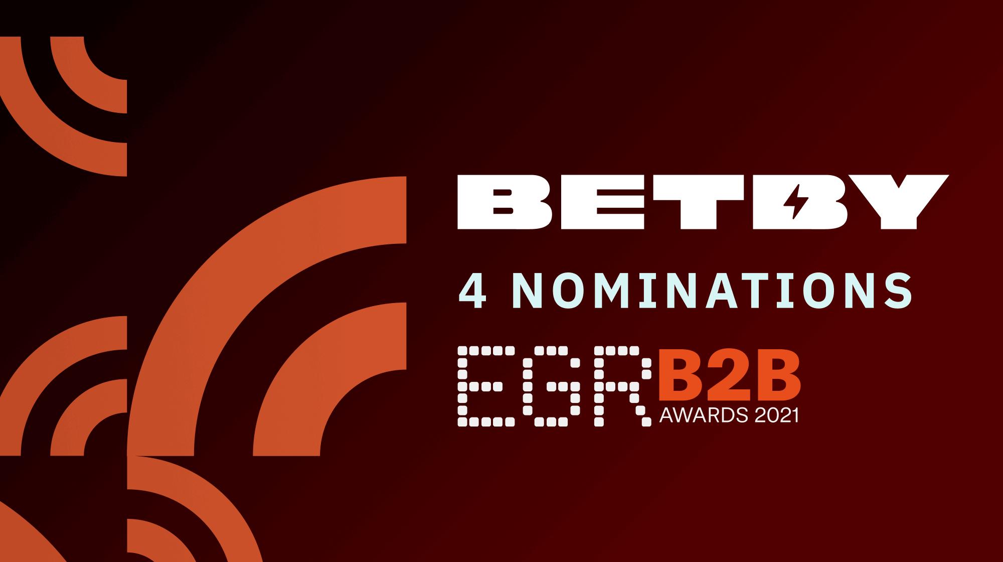 BETBY ENJOYS FOUR EGR B2B AWARD NOMINATIONS